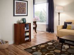 ClosetMaid can help your living room stay organized.