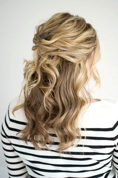 This Twisted Half-Up Hairstyle Is Perfect For Your Next Party | Le Fashion | Bloglovin'