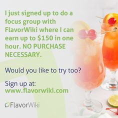 Hot! 🔥🤑 Earn up to $150 to do at-home taste tests & focus groups! via @FlavorWiki #SuperSavingMoms Free Product Testing, Focus Group, Alcoholic Drinks, Food And Drink, Yummy Food, Join, Delicious Food, Liquor Drinks, Alcoholic Beverages