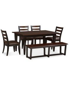West 4th 6 Piece Dining Room Furniture Set