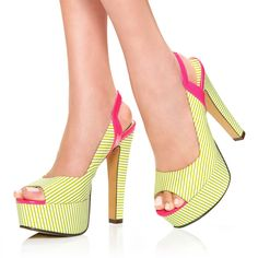 JustFabs Green Marcela - Green/Pink for 59.99 direct from heels.com