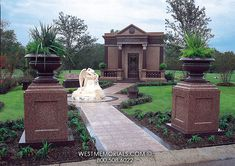 If you're looking for a family mausoleum to build on your estate property, then you've found the right place. Create a family mausoleum design with us. Cemetery Monuments, 2017 Design, Create A Family, Angel Statues, Throughout The World, Beautiful Birds, Granite, Mansions, House Styles