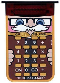 Little Professor - math problem generator.                                                                                                                                                                                 More