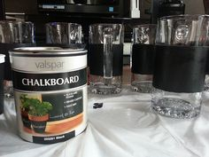 Make these custom chalkboard mugs for your wedding party | Offbeat Bride