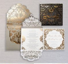 Stunning invitation suite by Ceci New York