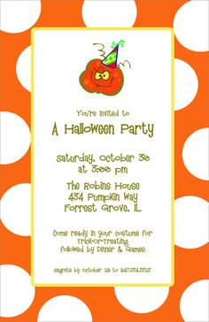 Halloween Pumpkin Invitations