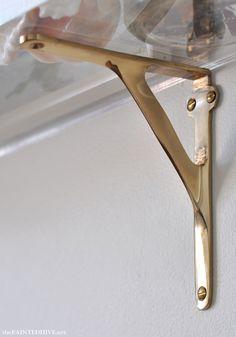 34 best brass shelf brackets images brass shelf brackets rh pinterest com