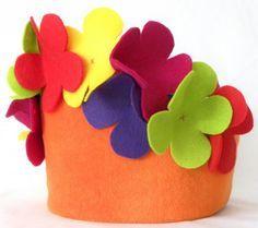 verjaardagsmuts bloemen vilt - Google zoeken
