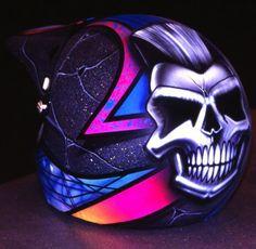 ☆ Skull Motorcycle Helmet -::- Artist Terry Hill ☆