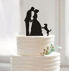 Funny Wedding Cake Toppers, Custom Wedding Cake Topper, Bride and Groom Cake Topper, Pet Dog Cake Topper, Unique Cake Topper.