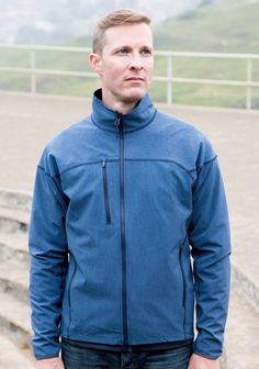 Landway Men's Sonic Flex Lightweight Soft Shell is a performance jacket for an athletic fit. Made of 92% Polyester and 8% Elastane, this soft shell jacket is wind-resistant and water-resistant. It features reversed coil zippers, flat-lock stitching, and open bottom hem for comfort and durability. 4-way stretch fabric for unrestricted movement. #menssoftshell #lightweightjacket #mensfashion
