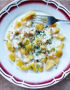 Gnocchis au potimarron, sauce Saint-Nectaire pour 4 personnes - Recettes Elle à Table - Elle à Table