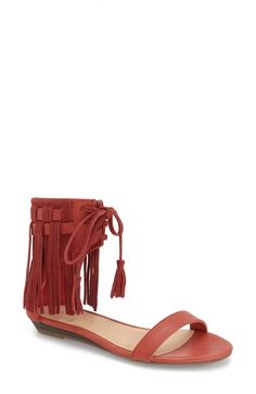 Very Volatile 'Aubrey' Fringe Lace-up Sandal (Women) available at #Nordstrom - $70