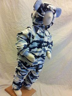 Child Size 4T/5 Blue Camo Bear Costume
