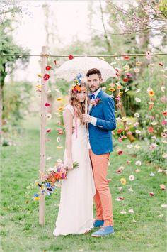 {Le marié} De la couleur dans le costume du marié