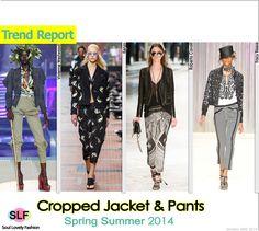 Cropped Jacket & PantsPantsuit Trend for Spring Summer 2014  #DressingwithBarbie