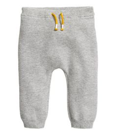 BABY EXCLUSIVE/CONSCIOUS. Purl-knit pants in organic cotton fabric with an elasticized drawstring waistband.