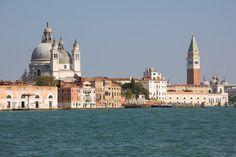 #Basilica Di #Santa #Maria #Della #Salute & #Campanile #Bell #Tower At #StMarksSquare In #Venice #Italy  @fotolia #fotolia @adobe #adobe #travel #vacation #holidays #sightseeing
