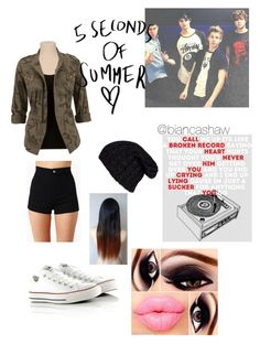 """""""Jamming out with 5 SOS"""" by biancashaw ❤ liked on Polyvore featuring Converse and Grevi"""