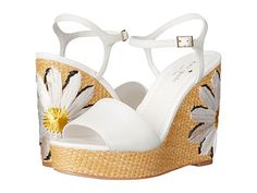 Kate Spade Devon Wedge Sandals White Tumbled Leather $159 (Sells Elsewhere $240) SHIPS FREE or PICK UP IN SANTA MONICA * BEST PRICE GUARANTEED *  PURCHASE HERE: http://piermart.com/kate-spade-devon-wedge-sandals-white-tumbled-leather-159-ship-free/