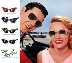 87a8ed0ebb2 1960 Vintage Ray Ban Sunglasses Ad ~ Try On a Pair