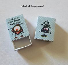 Schachtel Sorgenmampf - Monster  von ღKreawusel-Designღ auf DaWanda.com