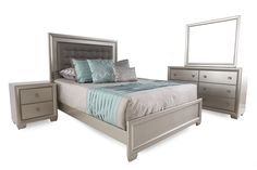 Samuel Lawrence Celestial Panel Bed | Mathis Brothers Furniture