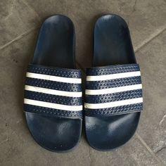 best cheap 79f58 81c42 Adidas adilette slip ons. Men s blue Adidas adilette slides. Adidas Shoes Adidas  Slides,