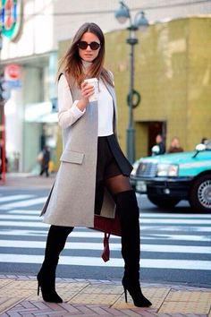 Looks inspiración con chalecos largos (El Rincón de Moda)