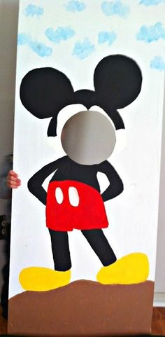 # Mickey Mouse Wooden Cut-out # Birthday Party Ideas by ammieiscool