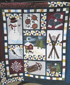 Winter Memories wall quilt lap sofa throw by KellettKreations