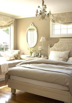 Soft, romantic bedroom design from Better Homes & Gardens