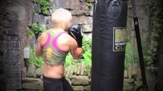 punching bag workout female australian - YouTube