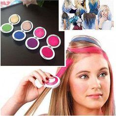Professional Temporary Hair Dye Powder cake Styling Hair Chalk Set Soft Pastels Salon Tools Kit Non-toxic top quality