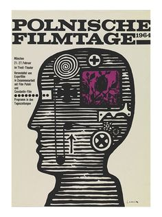 "design-is-fine:  Jan Lenica, poster for ""Polnische Filmtage"", 1964. Via MoMA. More to see: pigasus-gallery.de"