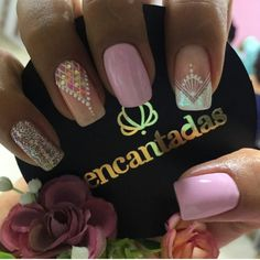 Pink Nails, My Nails, Nails Plus, Beautiful Nail Designs, Easy Nail Art, Perfect Nails, Short Nails, Manicure And Pedicure, Beauty Nails