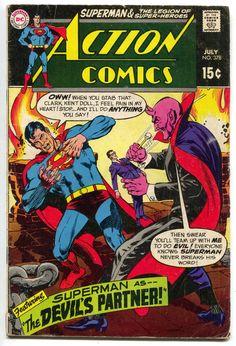 Action Comics by Neal Adams DC Comics Book cover art super heroes villians superman Evil Superman, Superman Comic, Batman, Superman Stuff, Comic Book Pages, Dc Comic Books, Comic Book Covers, Comic Art, Marvel Dc Comics