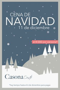 Afiche para la cena de Navidad de Casona Oeste.