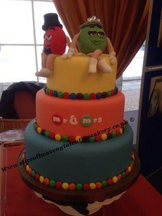 M&Ms inspired wedding cake. Gluten free