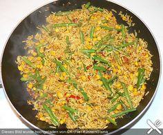 Vegetarischer gebratener Reis