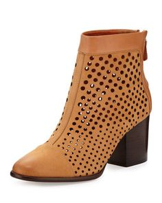 Bedford+Perforated+Bootie,+Tan+by+Rebecca+Minkoff+at+Neiman+Marcus+Last+Call.