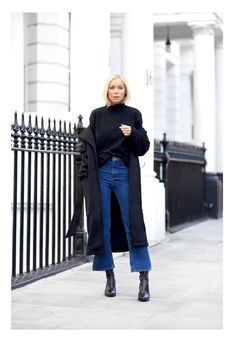 Best Outfit Ideas For Fall And Winter – 50 Street Style-Approved Ways to Wear Blue Jeans Best Outfit Ideas For Fall And Winter Description 50 Jeans Outfits to Copy This Fall Cropped Jeans Outfit, Flare Jeans Outfit, Jeans Outfit Winter, Winter Outfits, Crop Jeans, Cropped Flare Pants, Kick Flare Jeans, Blue Jeans, Style Outfits