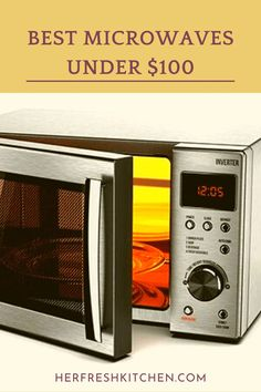 These affordable stylish microwaves, are a great addition to your kitchen Kitchen Tops, Kitchen Appliances, Countertop Microwave Oven, Kitchen Reviews, Stainless Steel Countertops, Microwaves, Stop Working, Tight Budget, Interior Lighting