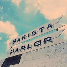 Barista Parlor (Nashville, Tennessee) - 24 U. Coffee Shops To Visit Before You Die Nashville Coffee Shops, Barista Parlor, Coffee Uses, Painted Signs, Places To Go, Around The Worlds, Vacation, Travel, Wanderlust