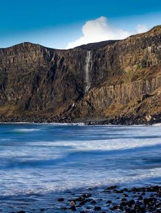 Waterfall at Talisker Bay, Isle of Skye, Scotland