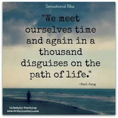 We meet ourselves time and again in a thousand disguises on the path of life. ~ Carl Jung