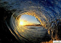 inside of a wave