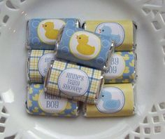 Printable Rubber Ducky Boy Baby Shower Mini by PinkPosyPaperie, $4.00
