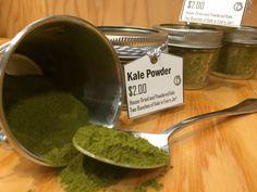 House made kale powder 2 bunches of kale per 4oz jar!