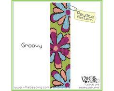 Peyote+Bracelet+Pattern:+Groovy+Baby+-+pdf+-+3+for+2+sale+-+bp216